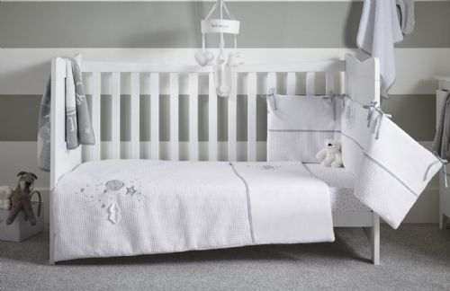 Cot Bed Set - Over The Moon Grey
